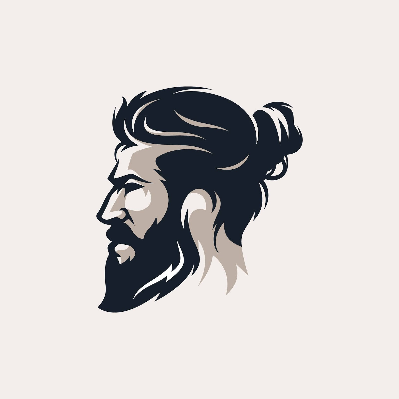 Beard Man Barber Shop Logo Vector Illustration Free Download Vector CDR, AI, EPS and PNG Formats
