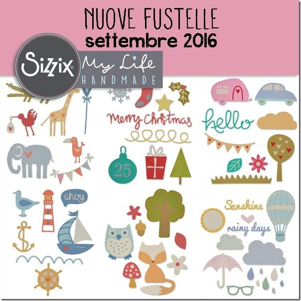 Nuove #fustelle Sizzix per creare - settembre 2016