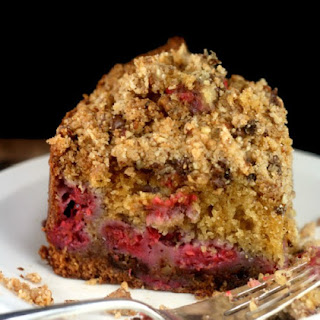 Brown Butter Chocolate Chip Streusel Crumb Cake with or without Raspberries