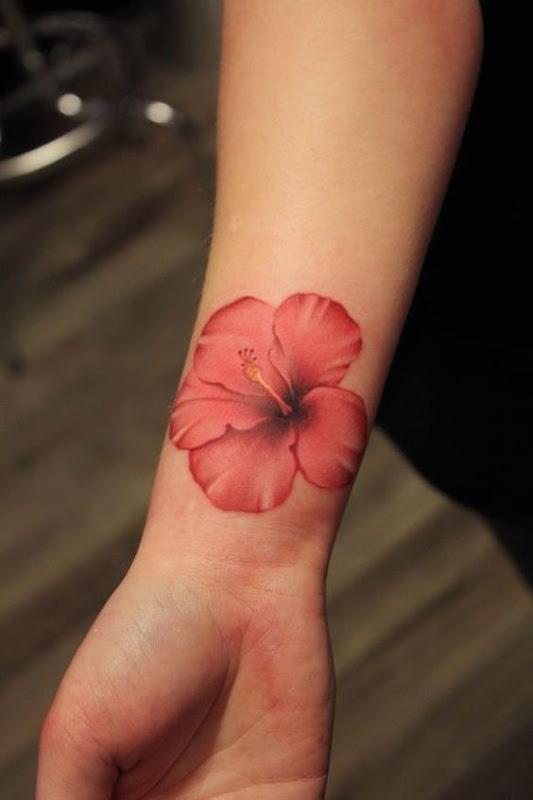 realista_hibiscus_pulso_de_tatuagem