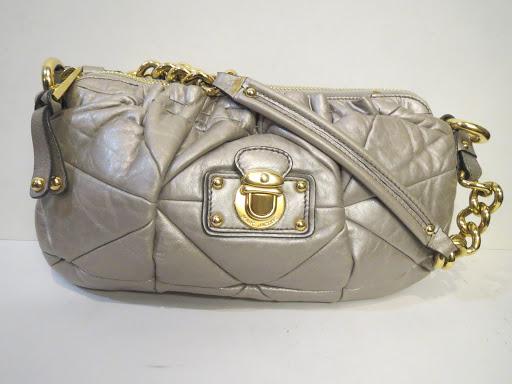 Marc Jacobs Silver Quilted Shoulder Bag