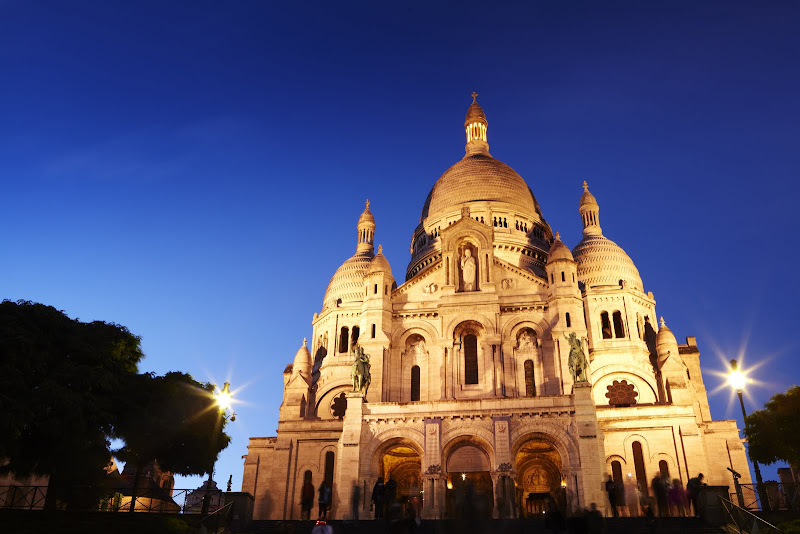 Sacre Coeur de Montmartre at night. From The Big Trip: Your Ultimate Guide to Gap Years and Overseas Adventures