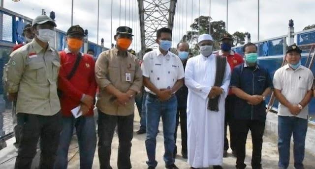 Jembatan Muara Teweh - Jingah Dites dengan Kendaraan