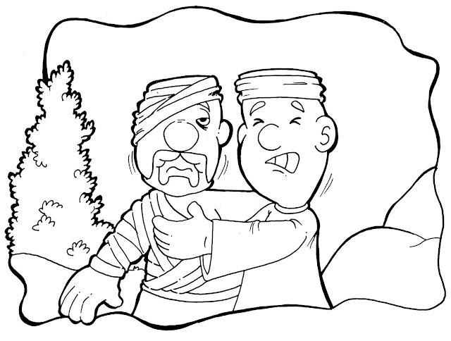 colorir o bom samaritano