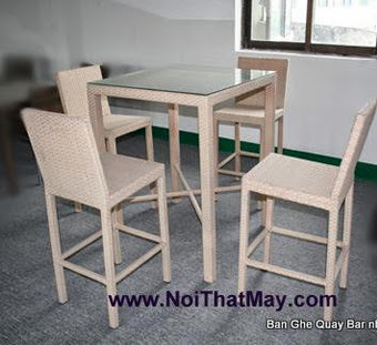 Outdoor Wicker Bar Set Minh Thy 802