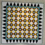 LUMIERE SOURCE DE VIE - Yvonne Coignet - piécé machine et quilté main - Reproduction d'une des mosaïques du Salon de Comares - Palais de L'Alhambra de Grenade - Espagne