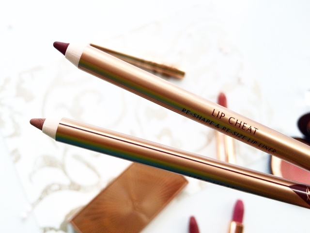 charlotte tilbury lip cheat hollywood honey and iconic nude swatches NC40