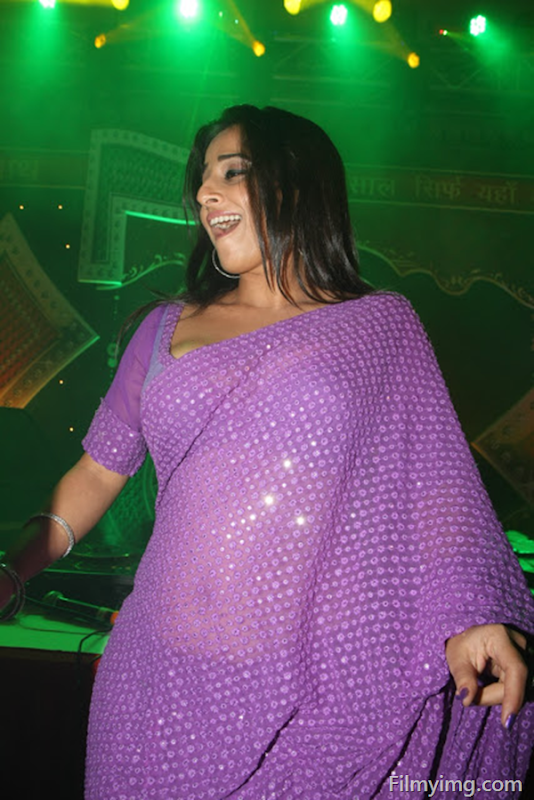 Vidya Balan Hot Photos In Violet Saree