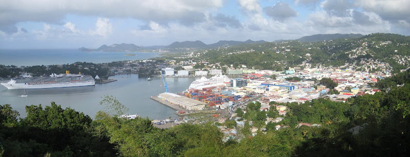 Castries harbour, St. Lucia panorama