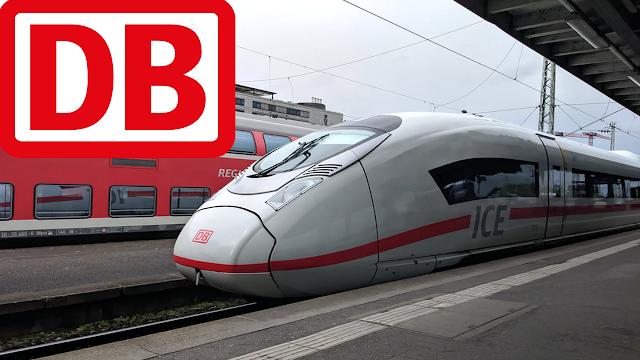 ice train db passing around germany