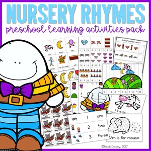 Nursery Rhyme Learning Activity Pack