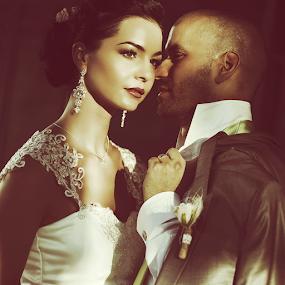 Andi & Csabi by Attila Kropf - Wedding Bride & Groom ( wedding, sunlight, bride, groom, portrait,  )
