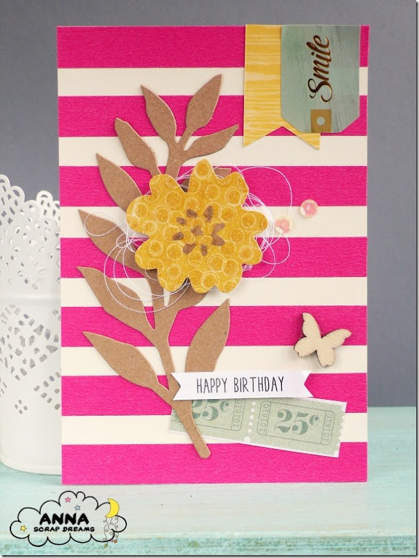 Cardmaking - sfondo con washi tape