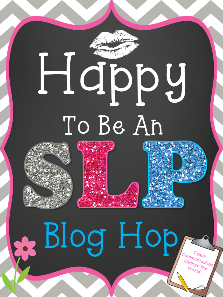 Happy to be an SLP Blog Hop main image