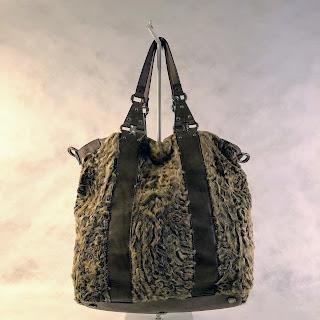 Donna Karen Collection Astrakhan Fur Bag