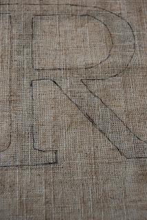 handmade monogram art - diy