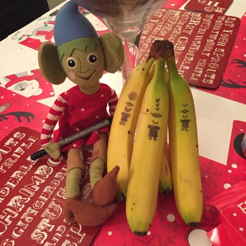 elf on the shelf minion bananas