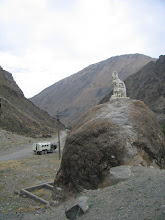Photo: Snow Leopard monument (at the confluence of the Kichik-Alay and Ak-Bura)