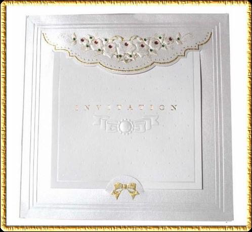 Invitación para boda color plata