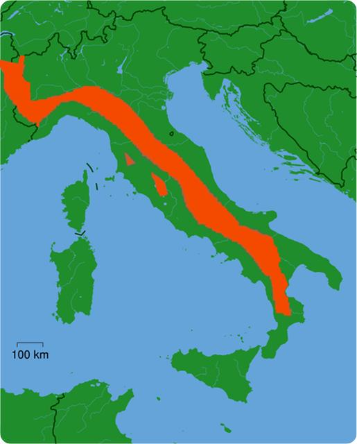 Canis lupus italicus-habitat