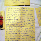 Mrs. Emilia F. Thompson, 209 West Elim, Sayre Okla.;Paden Okla, Oak St, Sunday April the 23, 1950, Dear Sister Minnie, rec'd your Welcome letter the 20th and wasn't we glad to hear from you. I am mailing Grandpa Bible to you, was glad to have it in our home so long and I have keep it just like it was when we got it......