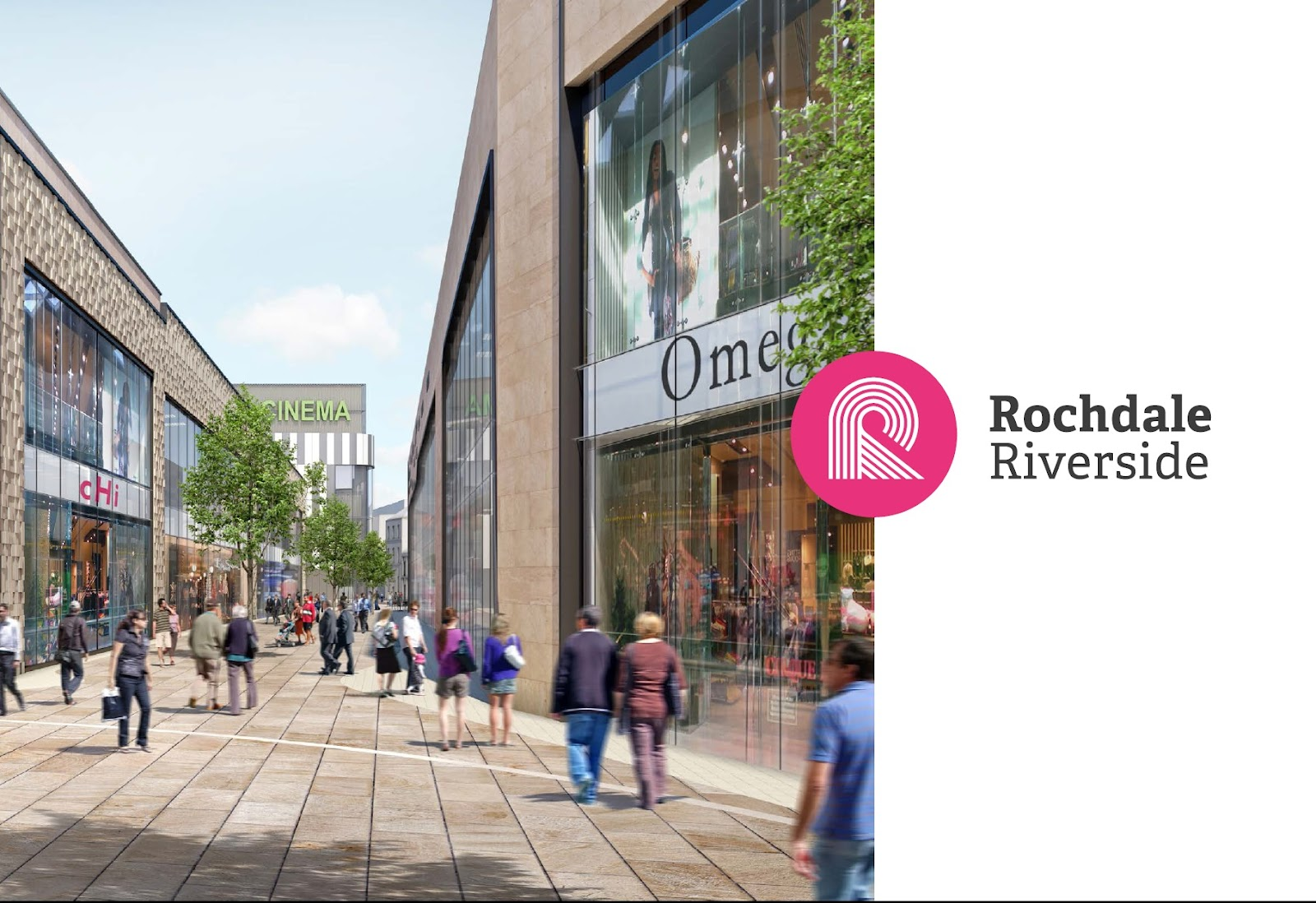 Rochdale Riverside retail and leisure with Reel Cinema