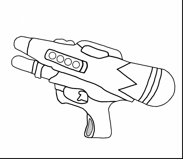 Excellent Water Gun Coloring Pages For Kids
