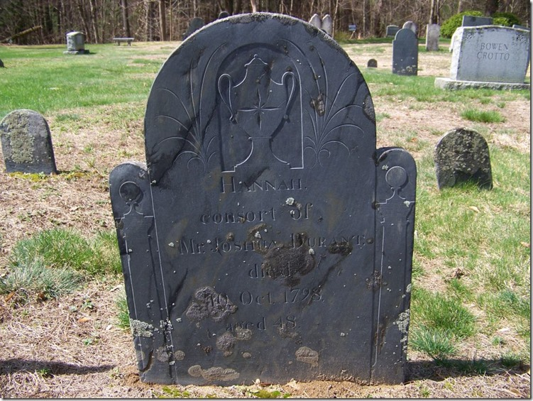 DURANT_Hannah_wife of Joshua_headstone_1750-1798_WestCem_KeeneNH