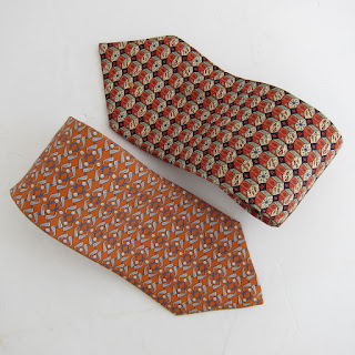 Hermès Silk Tie Orange Duo