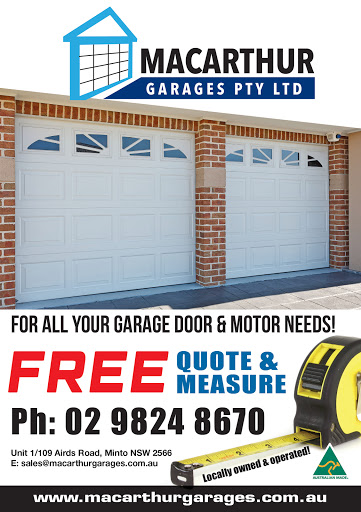 Macarthur Garages, Garage Builder, 1/109 Airds Rd, Minto NSW 2566, Reviews
