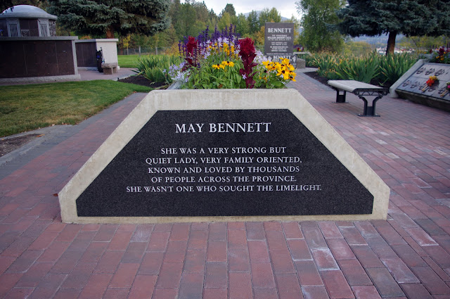 May Bennett She was a very strong but quiet lady, very family oriented, known and loved by thousands of people across the province. She wasn't one who sought the limelight.
