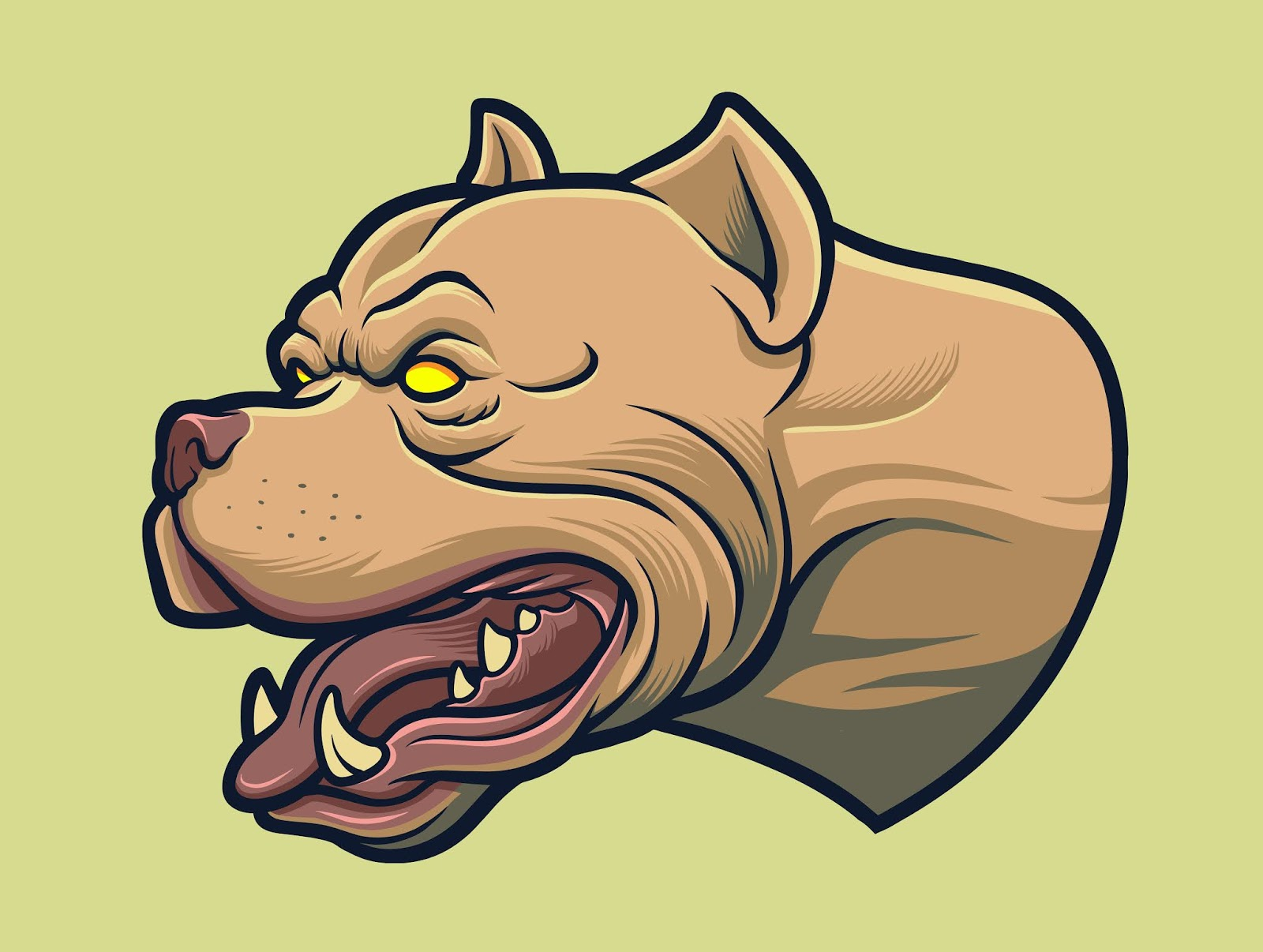 Aggressive American Pitbull Dog Free Download Vector CDR, AI, EPS and PNG Formats
