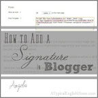 Adding a Signature in Blogger
