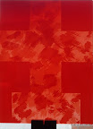 """""""Kreuz"""", Echtantikglas, geätzt, 2005"""