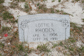 Photo: Lottie Bennett Rhoden wife of Henry Rhoden who was the son of William M Rhoden and America Arnold