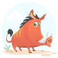 Cartoon Funny Boar Illustration Free Download Vector CDR, AI, EPS and PNG Formats