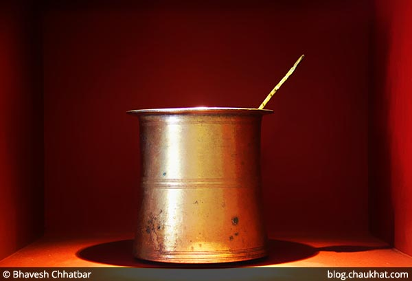 An antique vessel at Savya Rasa [Koregaon Park, Pune]