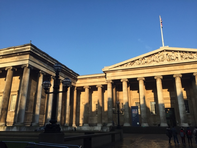 The exterior of the British Museum, London