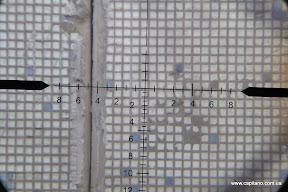 """Прицельная марка KANDAR 10x42 AOE, расстояние до стены 40м, обрезал """"луну"""""""