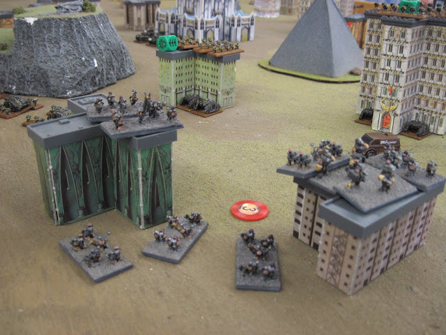 The dropped in behind Chris's Iron Warriors. Classy...
