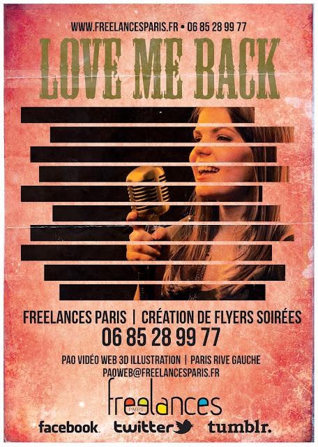 création flyers soirées thème Love Me Back
