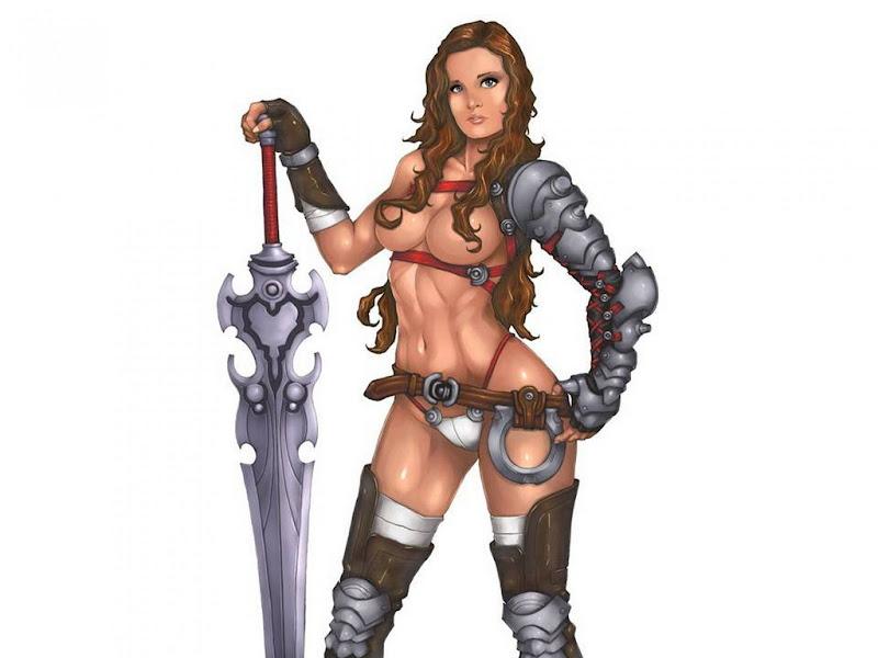 Girl Warrior With Great Sword, Warriors 2