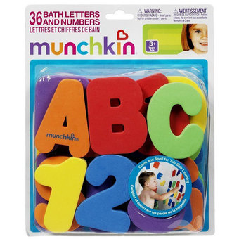 Bộ chữ số xốp 36 Bath Letters And Numbers Munchkin