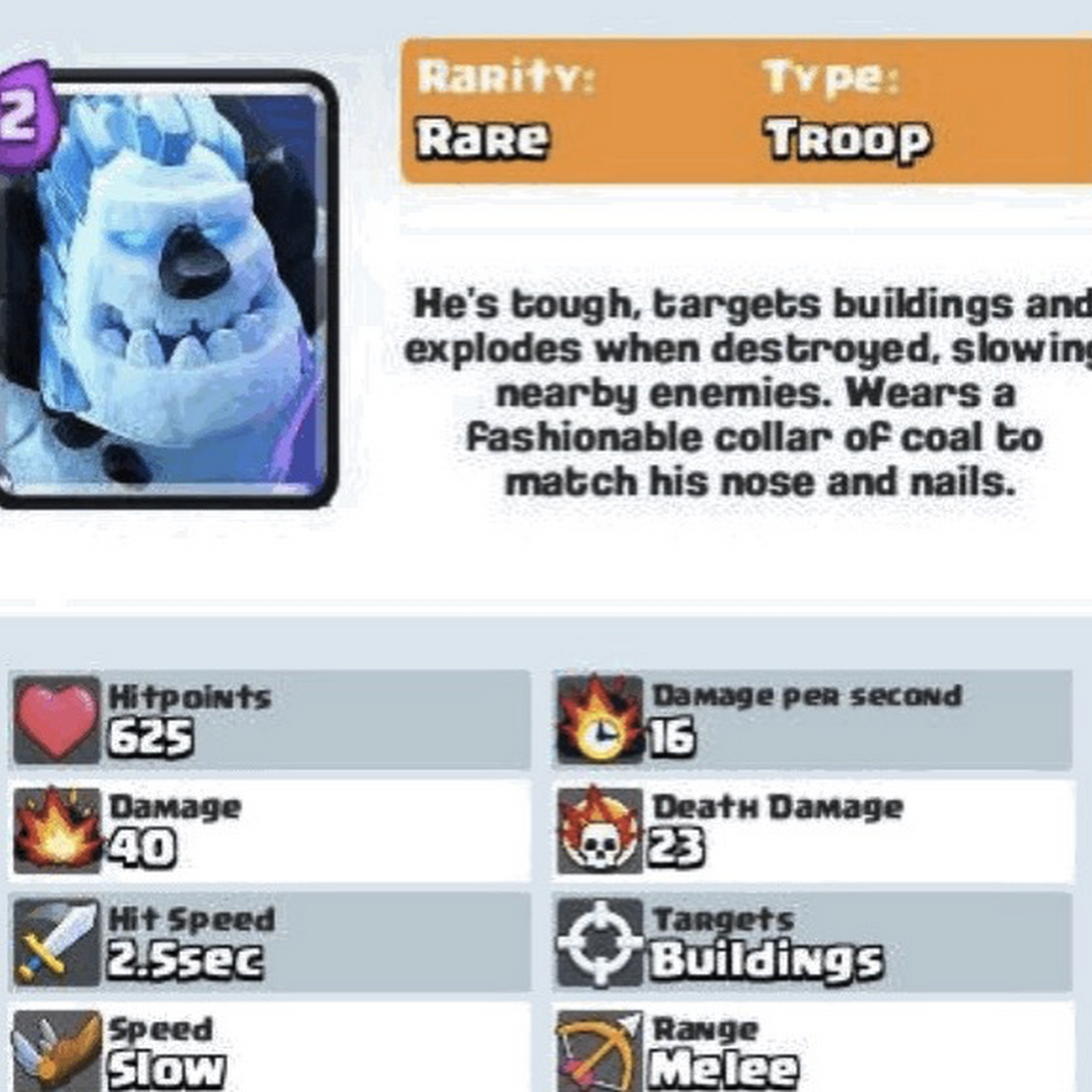 Ice Golem clash royale Sept 2016 update