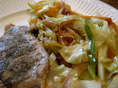 pork chops with cabbage slaw