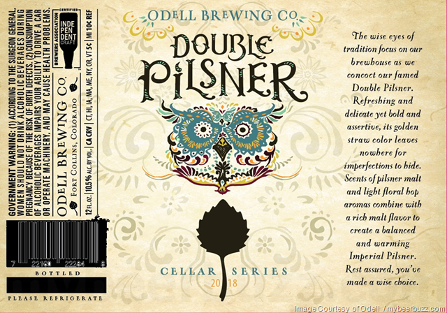 Odell Double Pilsner Returning To 2018 Cellar Series