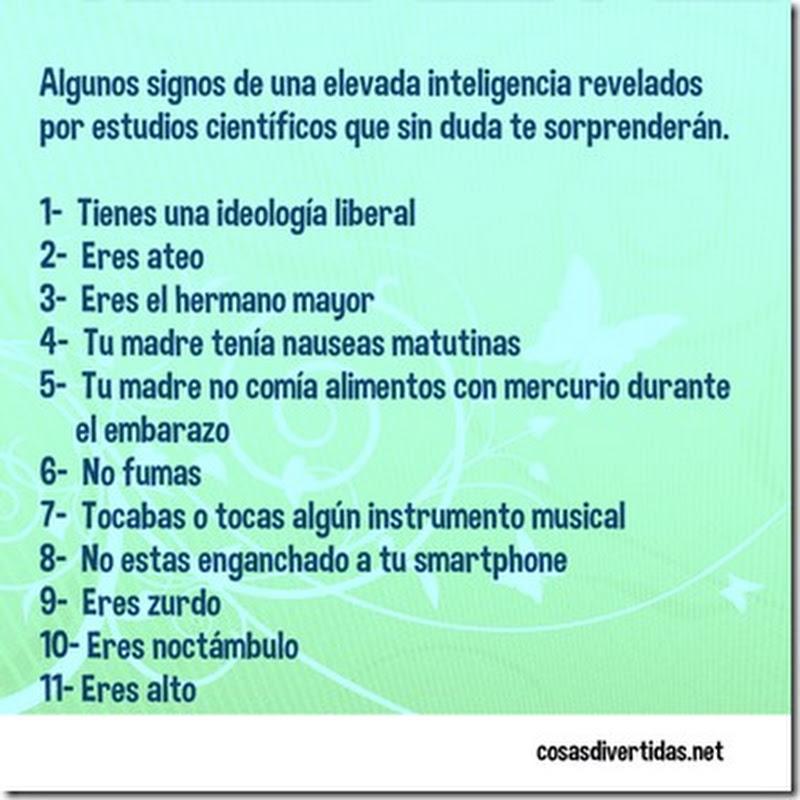 signos de tener una elevada inteligencia