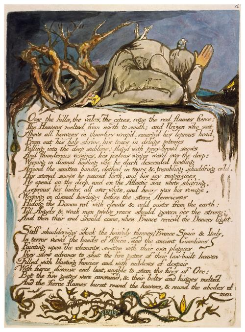 America A Prophecy Plate 18 By William Blake, William Blake