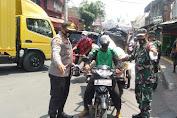 Puluhan Pelanggar Prokes Terjaring di jalan Jembatan Besi dan Jalan Kali Besar Tambora