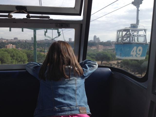 Madrid con niños el Teleferico